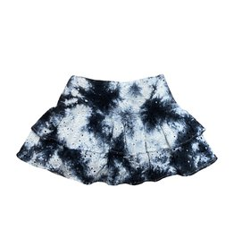 KatieJnyc Lilly Skirt Black and White Tie Dye