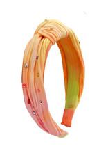 Bari Lynn Bari Lynn Pleated Knot Headband- Sherbert TD