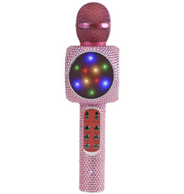 Wireless Express Pink Bling Bluetooth Microphone