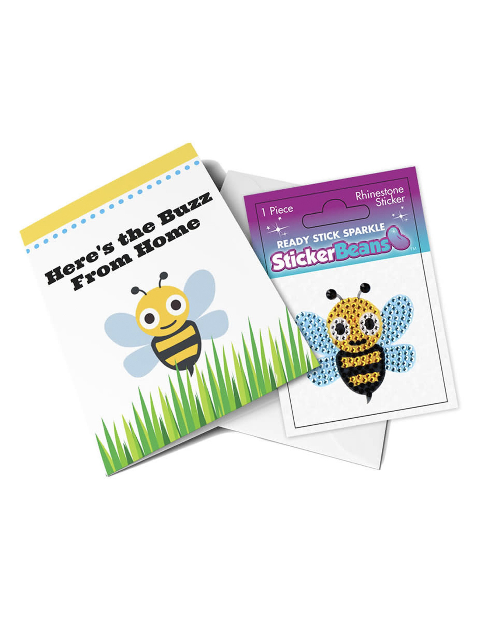 Sticker Beans Buzzy Bee Greeting Card w/ Sticker