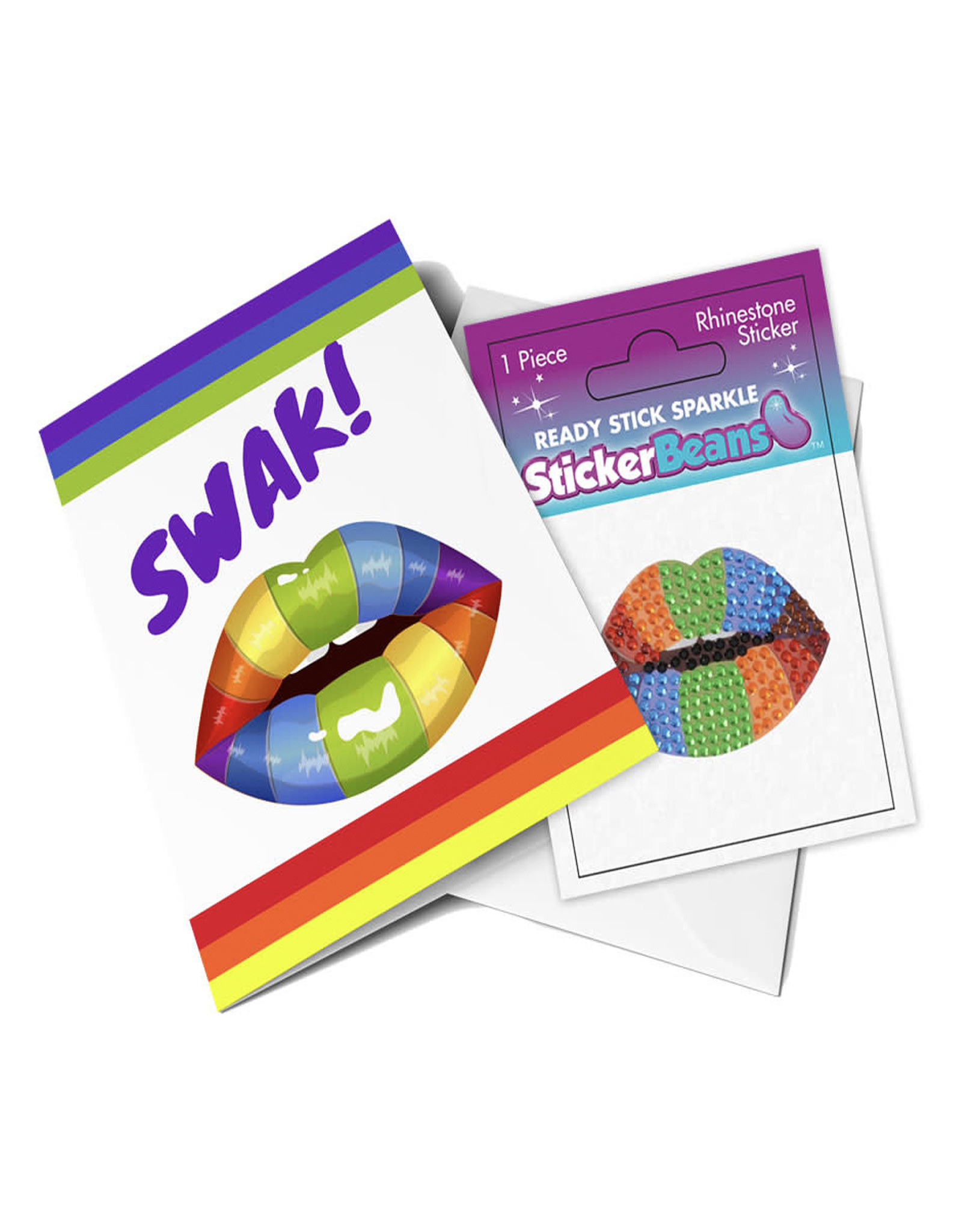 "Sticker Beans ""Swak"" Greeting Card w/ Sticker"