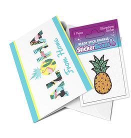 Sticker Beans Pineapple Greeting Card w/ Sticker
