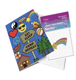 Sticker Beans Shooting Star Greeting Card w/ Sticker