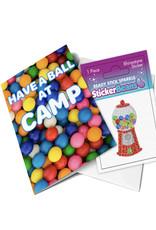 Sticker Beans Gumballs Greeting Card w/ Sticker