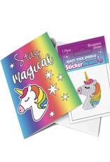 Sticker Beans Glitter The Unicorn Greeting Card w/ Sticker