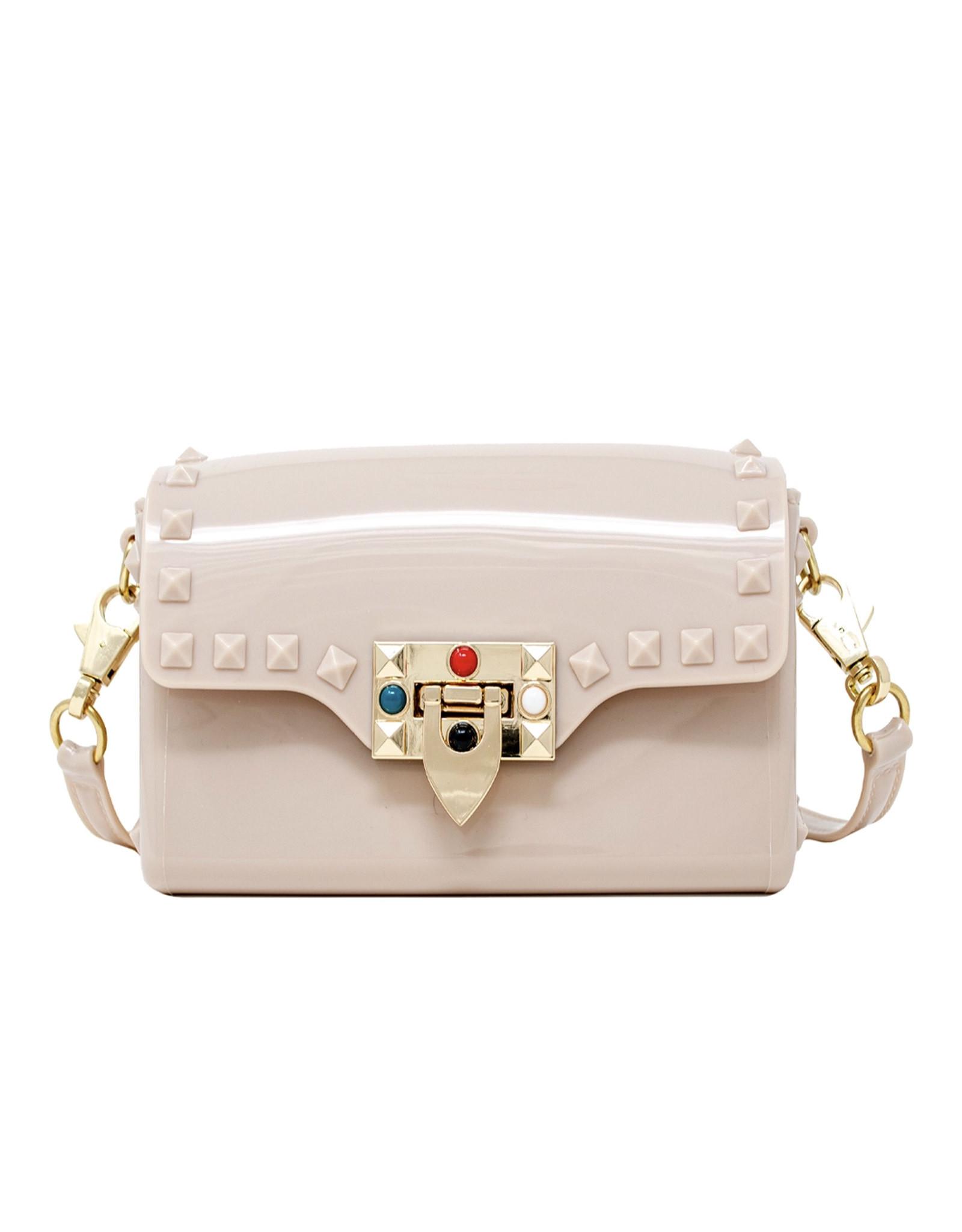 Tiny Treats & Zomi Gems Mini Jelly Stud Handbag Tan