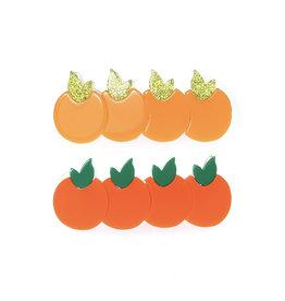 Lillies & Roses Multi Orange Alligator Clips (pair)
