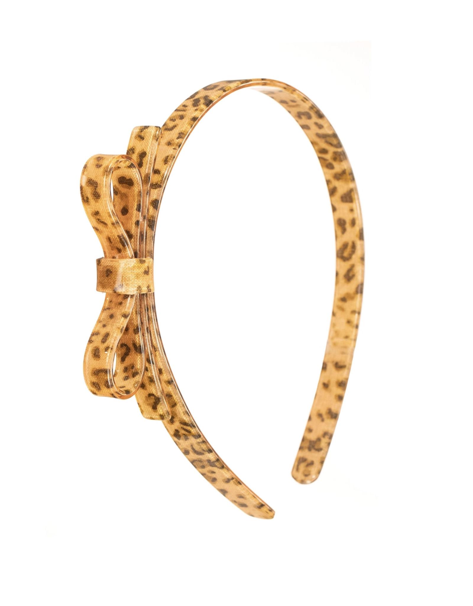 Lillies & Roses Thin Leopard Bow Headband