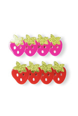 Lillies & Roses Multi Strawberry Pink Red Alligator Clips