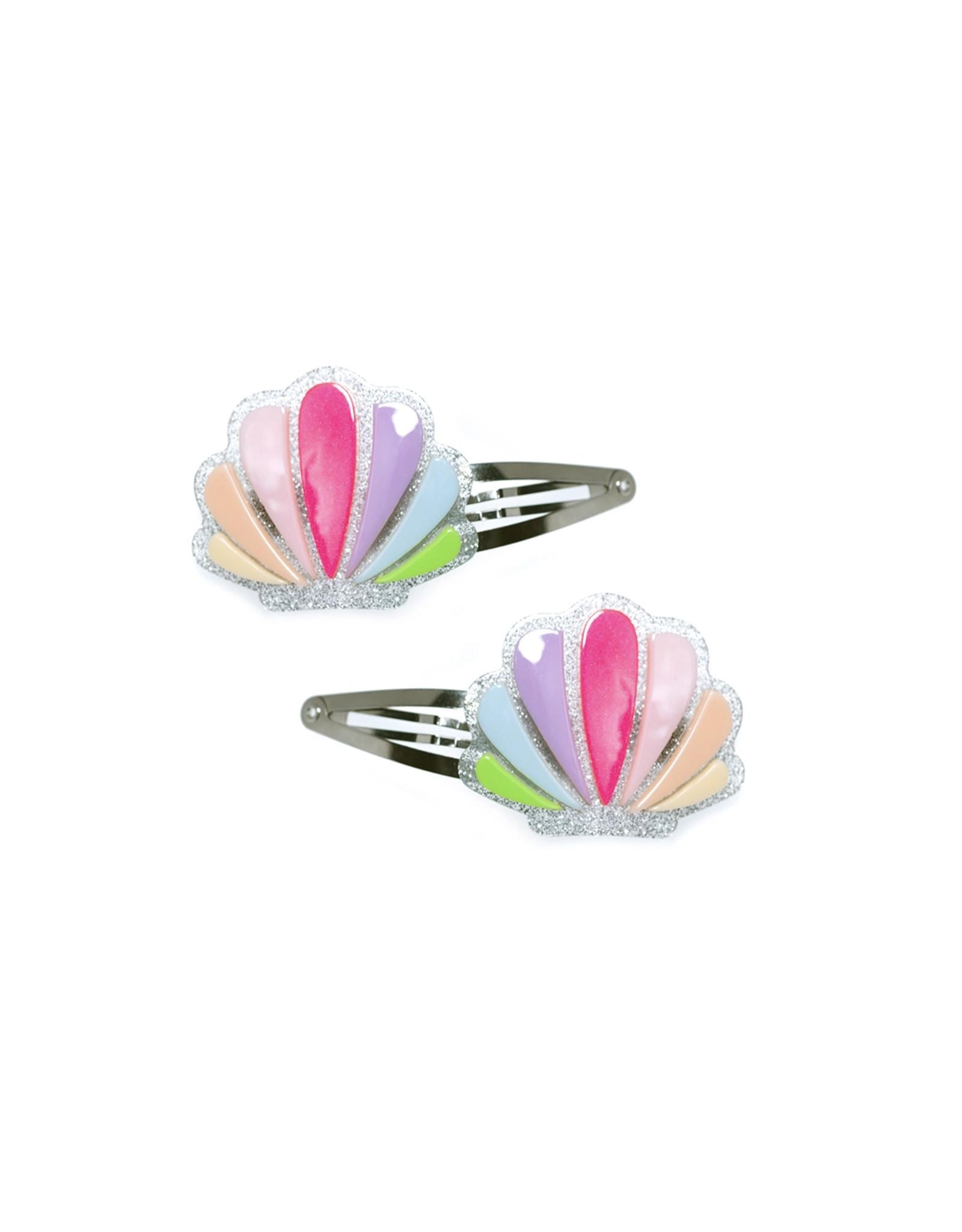 Lillies & Roses Seashells Pastel Colors Snap Clip