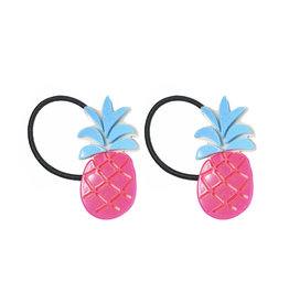 Lillies & Roses Pineapple Neon Pink Ponytail