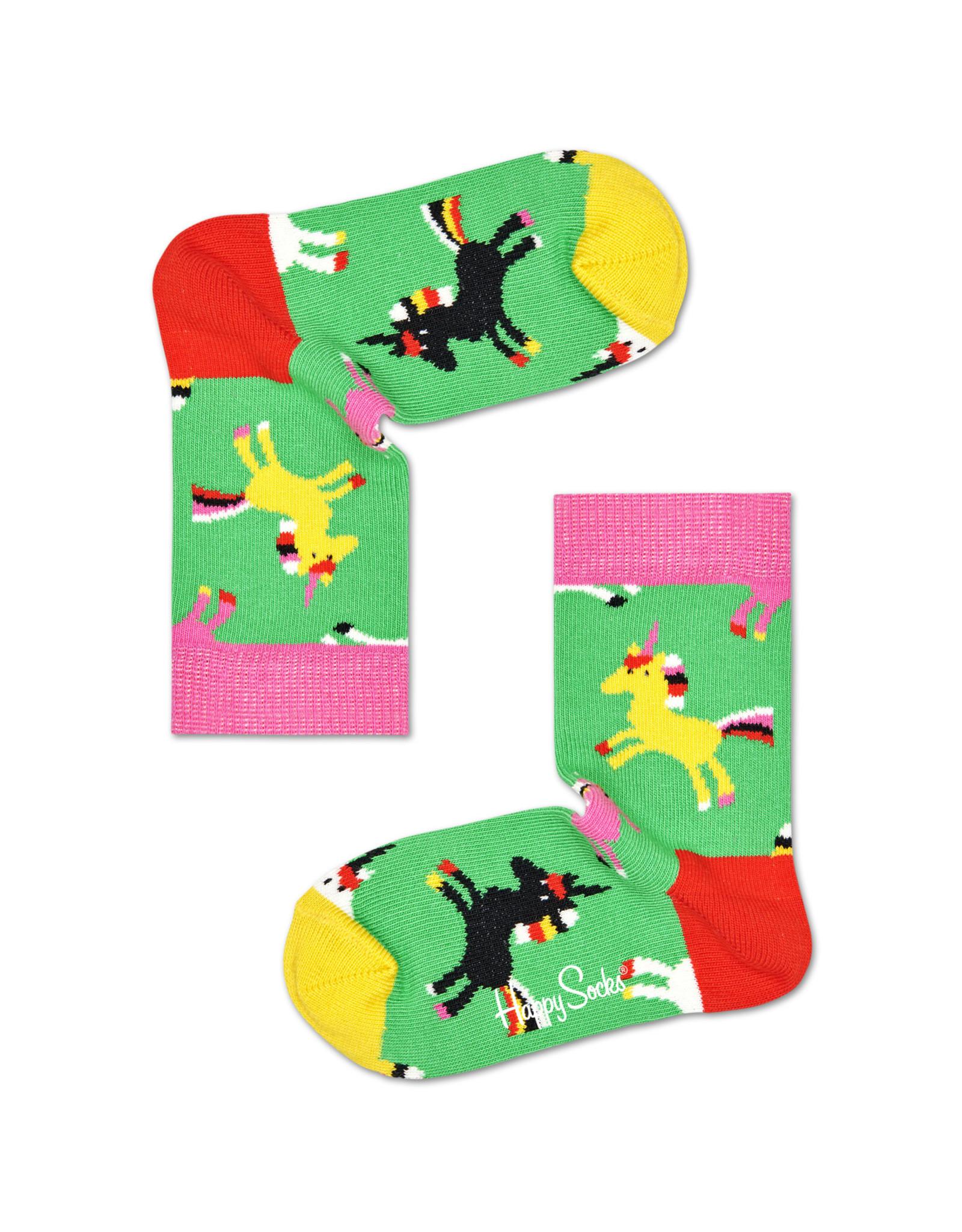 Happy Socks Unicorn Green Socks