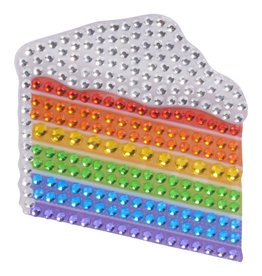 Sticker Beans Rainbow Cake