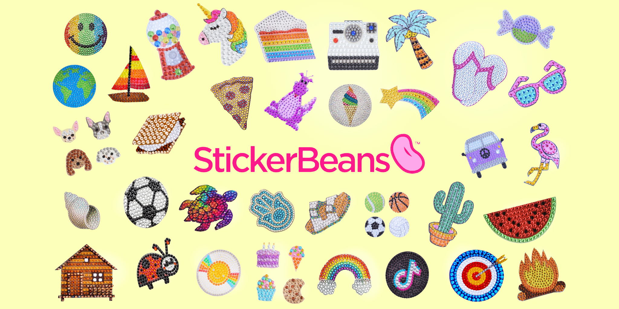 Sticker Beans! Collect Them All!