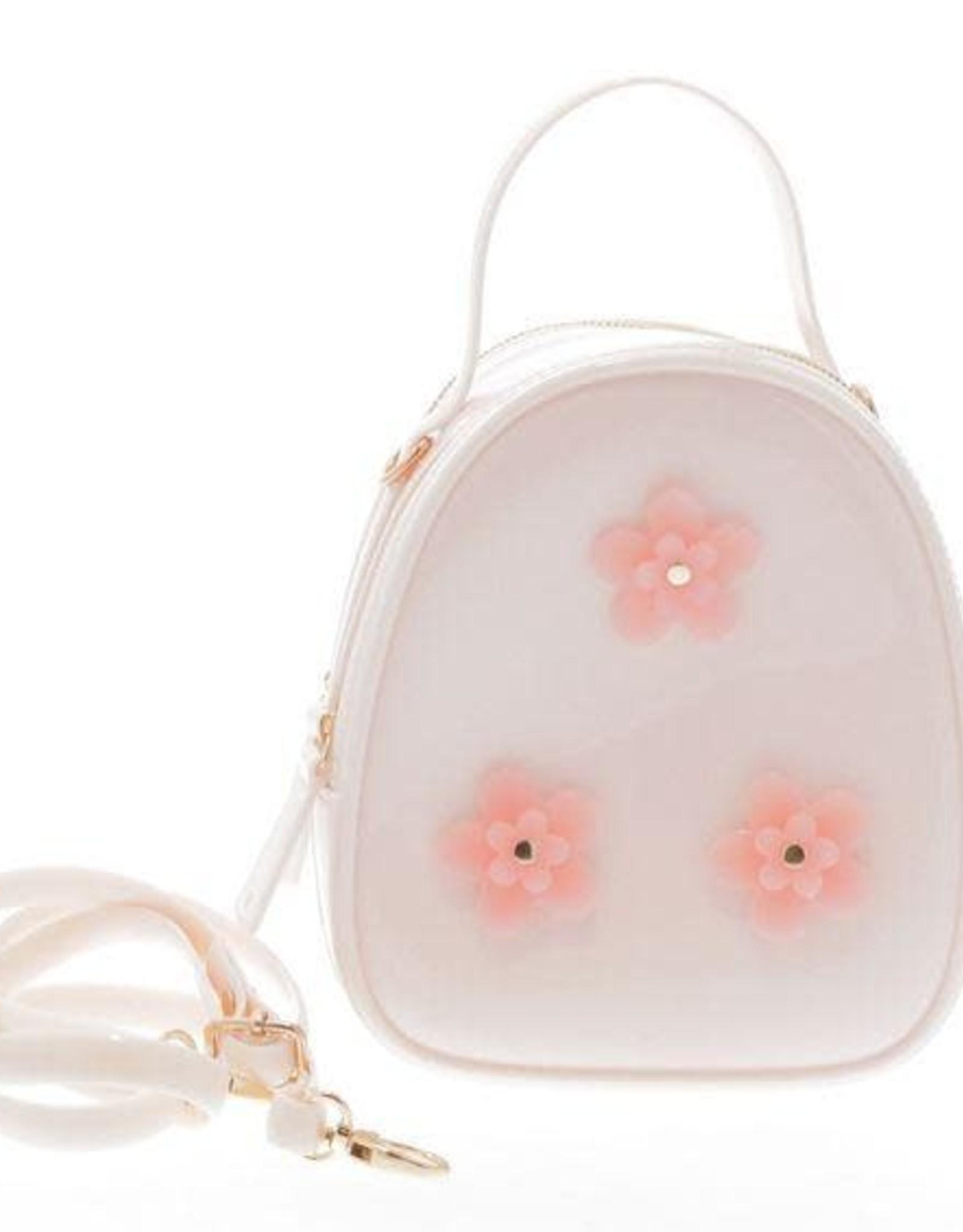 Doe a Dear Ivory Floral Jelly Bag