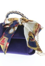 Doe a Dear Purple Velvet Handbag w/ scarf