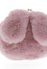 Doe a Dear Pink Rabbit Ear Plush Purse