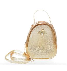 Doe a Dear Gold Glitter Jelly Bee Bag