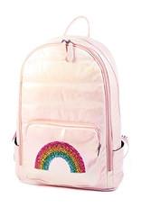Bari Lynn Bari Lynn Iridescent Pink Rainbow Backpack