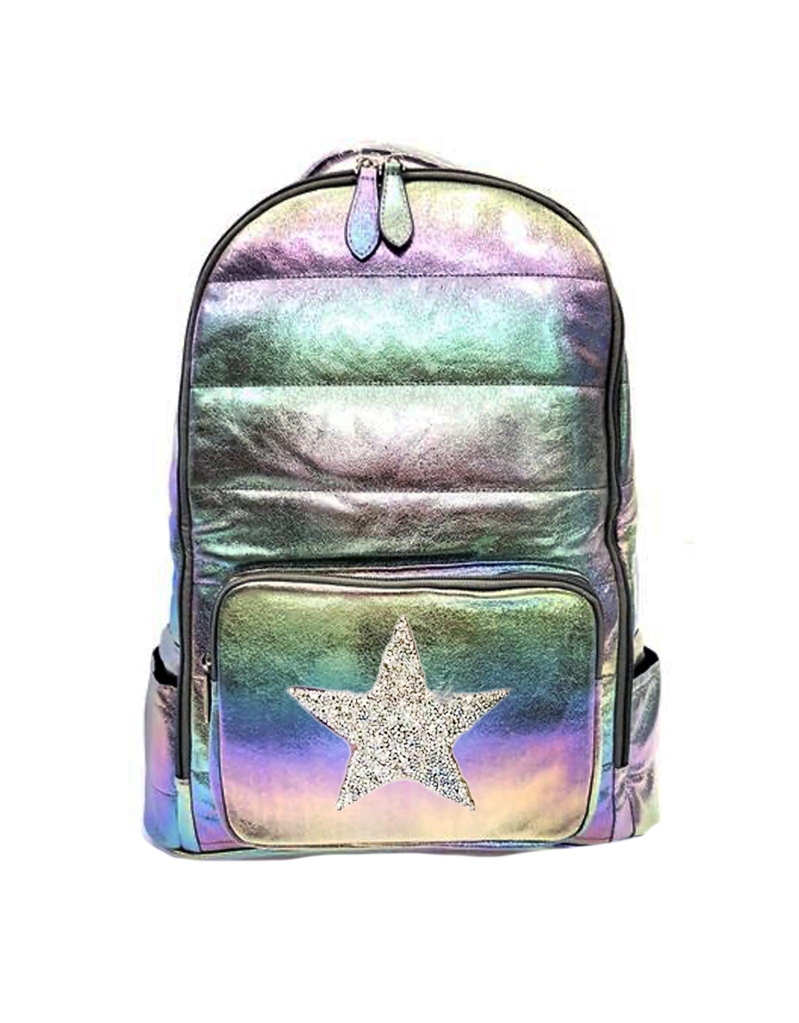 Bari Lynn Bari Lynn Galaxy Puffy Backpack with Glitter Star