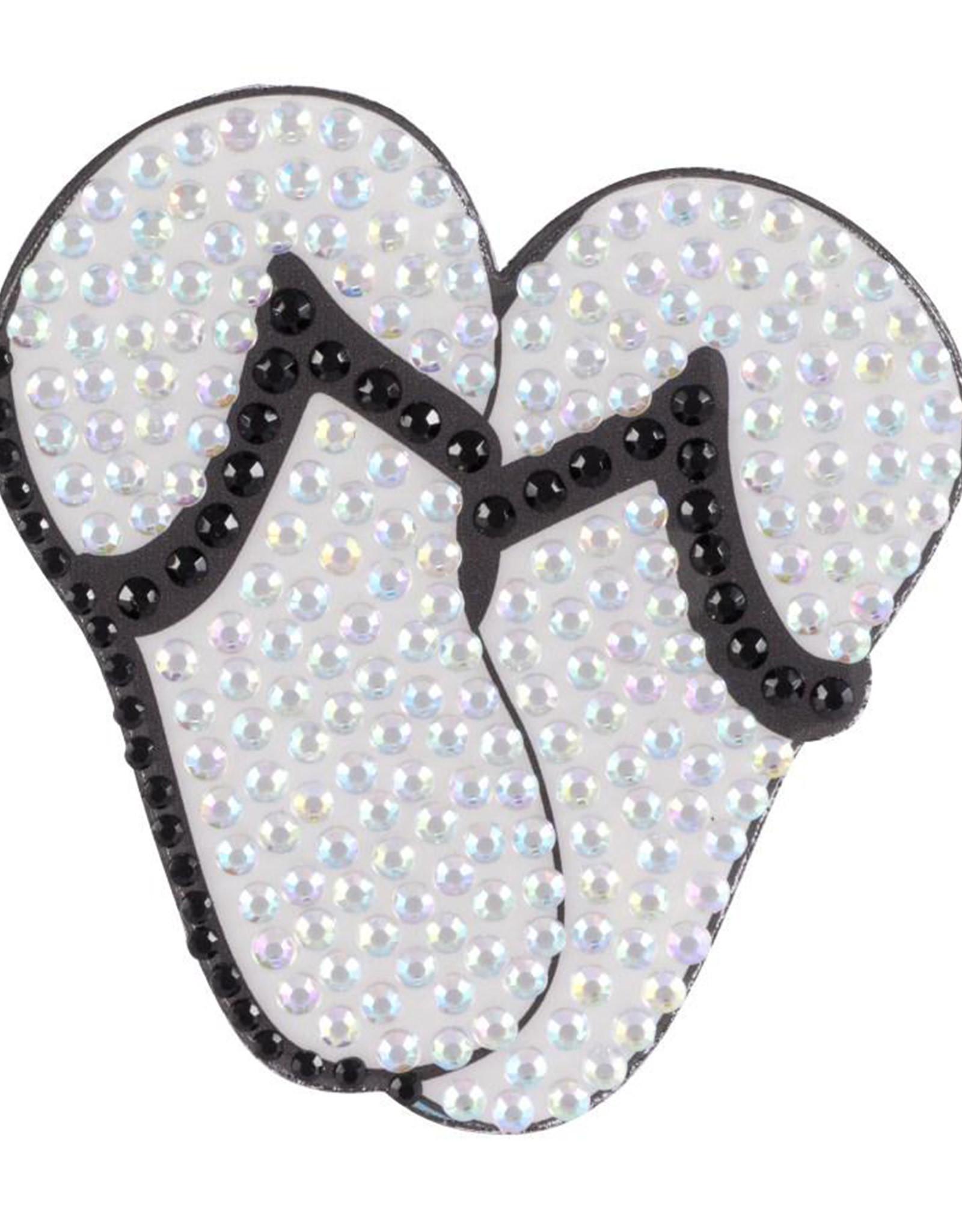 Sticker Beans Sticker Beans Black Flip Flops