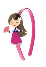 Lillies & Roses LR Headband Cute Doll Dark Pink Dress