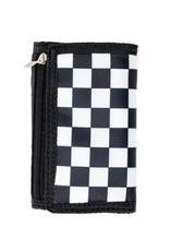 Tiny Treats & Zomi Gems Boys Checkered Black Wallet