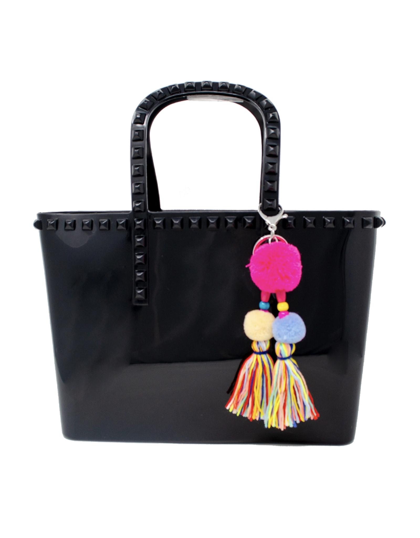 Tiny Treats & Zomi Gems Jumbo Jelly Tote Bag Black