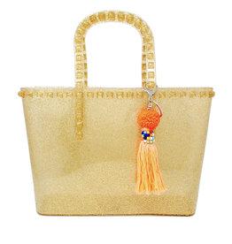 Tiny Treats & Zomi Gems Jumbo Jelly Tote Bag Gold