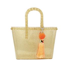 Tiny Treats & Zomi Gems Tiny Jelly Tote Bag Gold