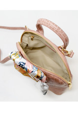 Tiny Treats & Zomi Gems Crocodile Moon Handbag Black