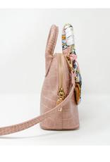 Tiny Treats & Zomi Gems Crocodile Moon Handbag Pink