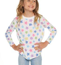 Chaser Brand Rainbow Stars Long Sleeve Shirt