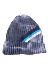 Bari Lynn Tie Dye Navy Athletic Stripe Beanie