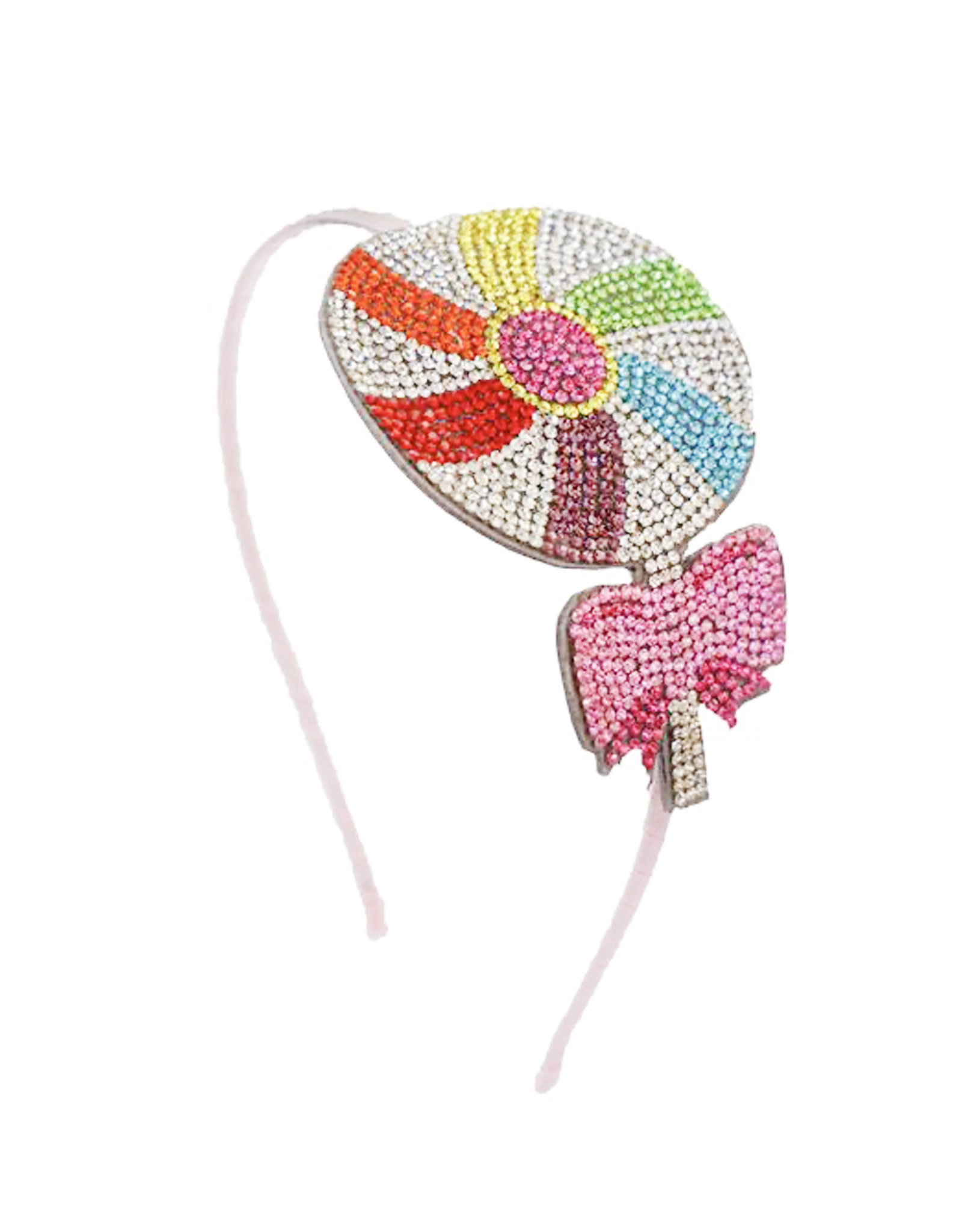 Bari Lynn Lollipop Bow Crystal Headband
