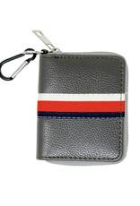 Tiny Treats & Zomi Gems Striped Grey Leather Wallet