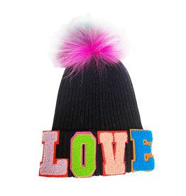 Bari Lynn BL Fur LOVE Beanie Black