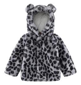 Molo Ulva Snowy Leo Fur Fleece Jacket