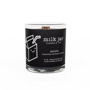 Milk Jar Aurora - Teakwood, Mahogany, & Aspen