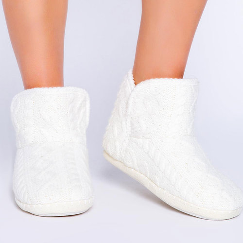 PJ Salvage Cable Knit Solid Bootie