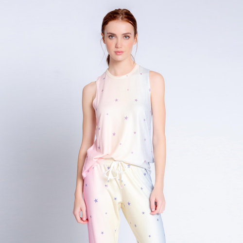 PJ Salvage Peachy Party Stars Tank