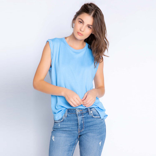 PJ Salvage Back to Basics Blue Tank