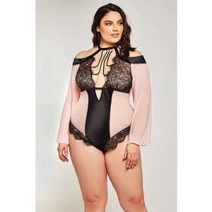 ESTRELLA MESH  & STRETCH SATEEN TEDDY
