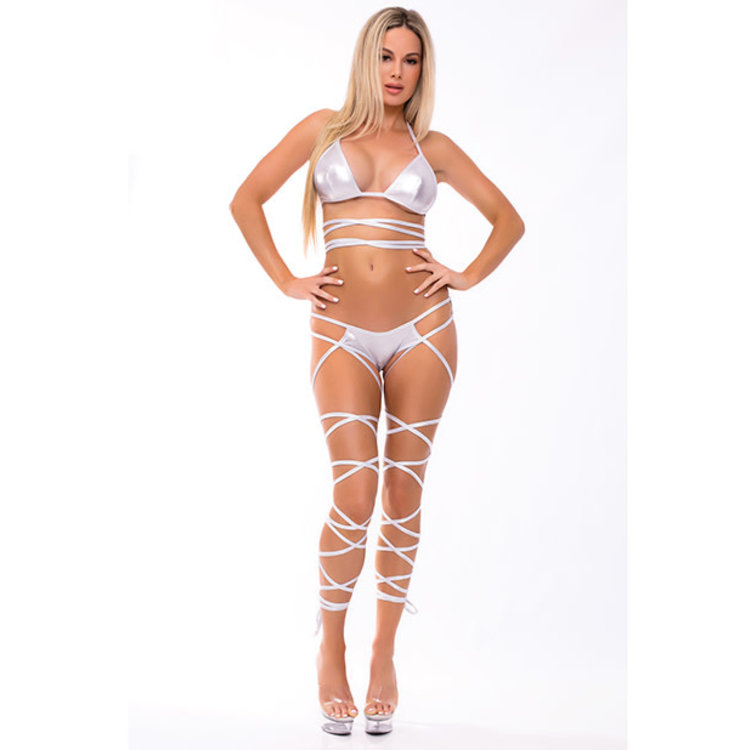 LACE UP LOVER BRA SET