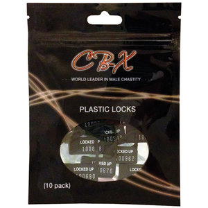 PLASTIC COCK CAGE LOCKS x 10