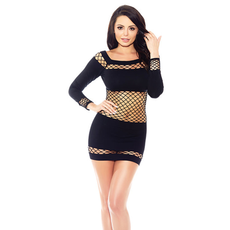 NOTHING TO HIDE FISHNET CHEMISE