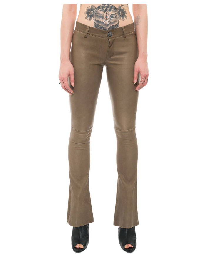 10SEI0OTTO STRETCH LEATHER FLARE PANTS
