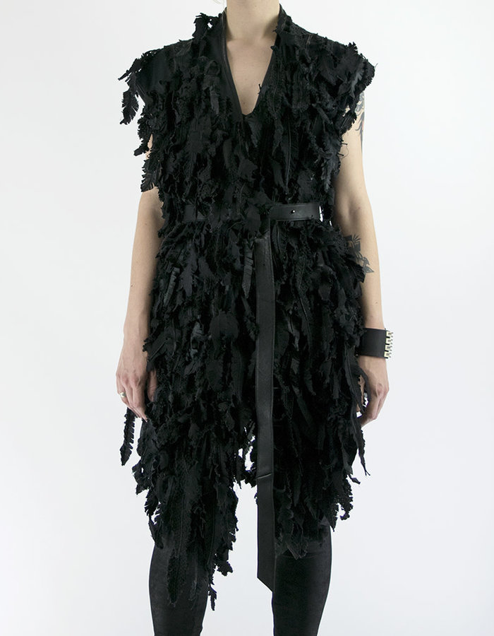SANDRINE PHILIPPE FEATHERED GILET