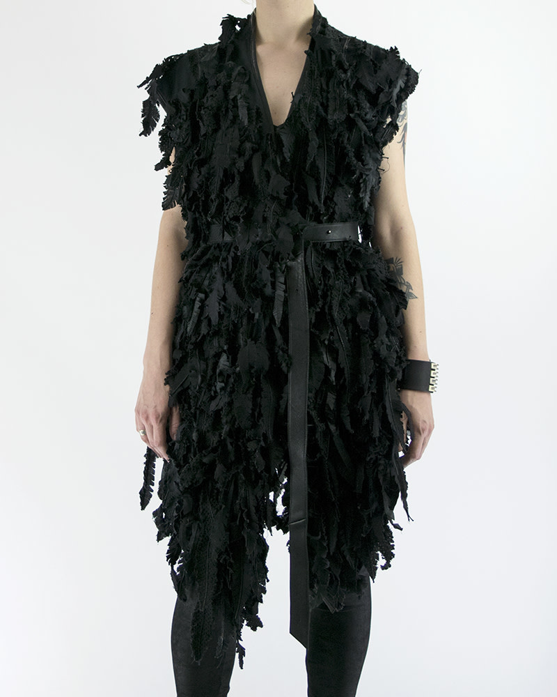 FEATHERED GILET