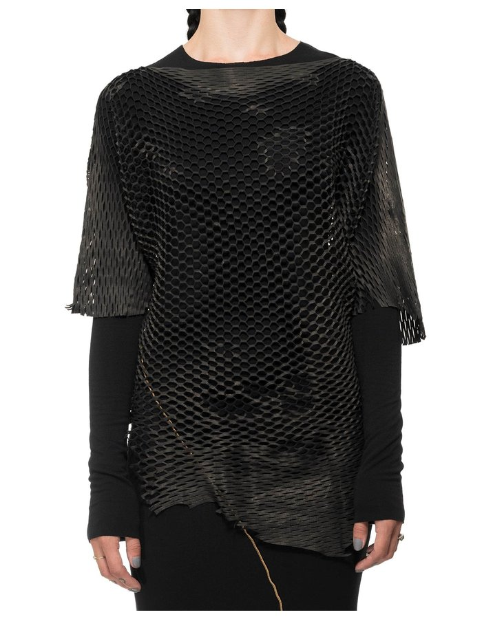 DAVIDS ROAD LEATHER MESH TOP